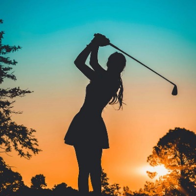 Golf at sunrise