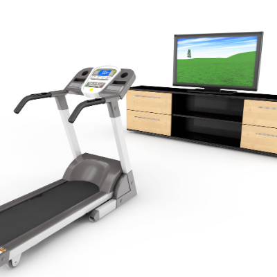 treadmill tv